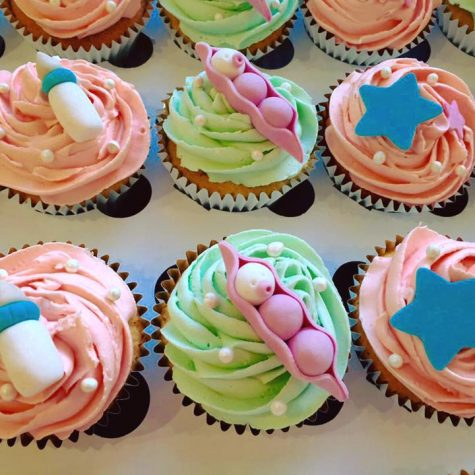 Baby Shower cupcakes made by The Perfect Pudding Company
