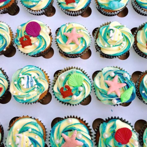 Under the Sea themed cupcakes made by The Perfect Pudding Company