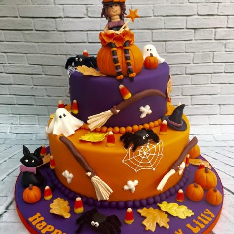 3 tier bespoke Halloween themed birthday cake for one of our celebrity clients.