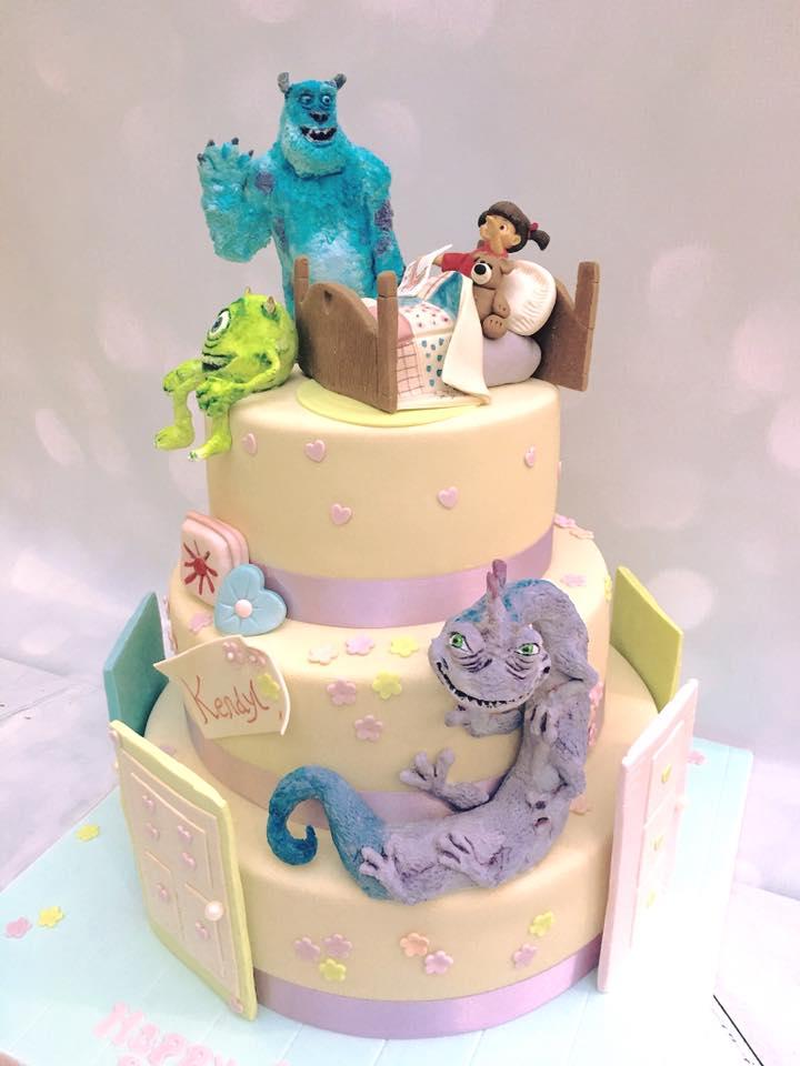 Astonishing 3 Tier Bespoke Disney Monsters Inc Cake For An 18Th Birthday Funny Birthday Cards Online Bapapcheapnameinfo