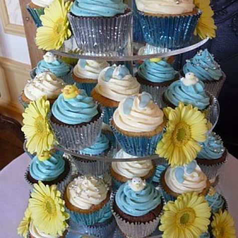 Christening Cupcake Tower